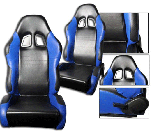 Living Depot faux leather sport racing seats