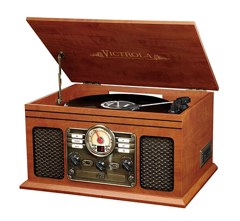 The Classic Wood 6-in-1 Bluetooth Turntable