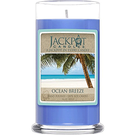 Jackpot Candles Ocean Breeze Candle with Ring Inside