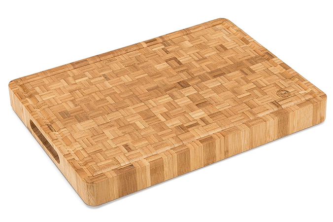Top Notch Large End Grain Bamboo Butcher Block Professional