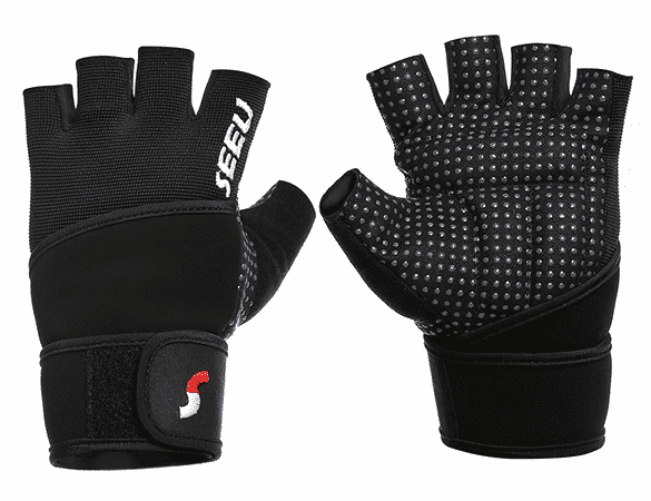 SEEU weight lifting gloves with wrist wrap