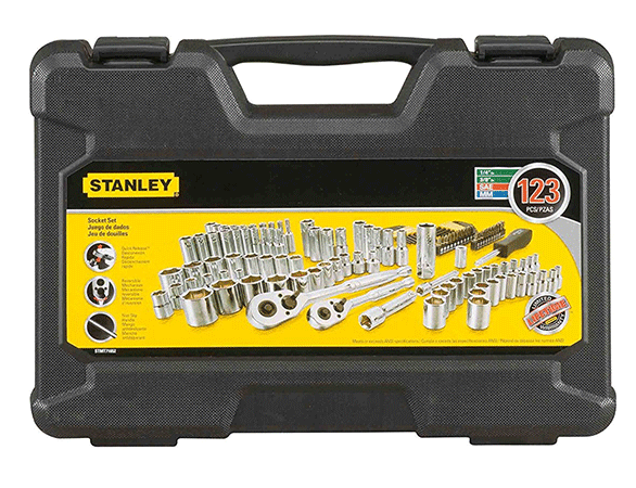 The Stanley 123 Piece Socket Set