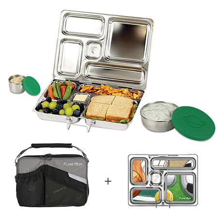 PlanetBox Rover Eco Friendly Stainless Steel Bento Lunch Box