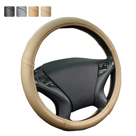 Car Pass Classical Leather Universal Steering Wheel Cover
