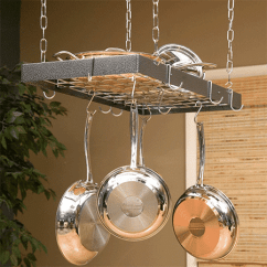 Kitchen Pot Hangers Commercial Degreaser For Top 10 Hanging Racks 2019 Reviews Vbestreviews Roger Hammered Steel Rectangular Rack
