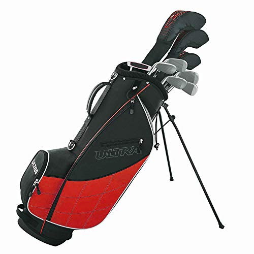 Wilson Golf Ultra Men's 9-Club Set w/Bag and Covers. Black and Red
