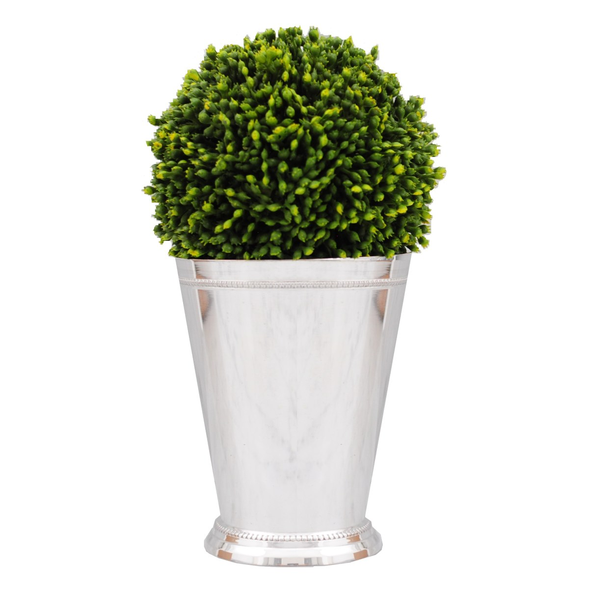 Mint julep cup vase with topiary veronica bradley interiors mint julep cup reviewsmspy