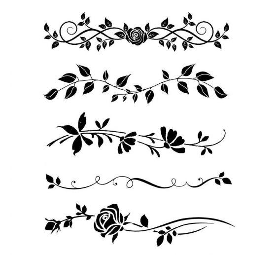 Schablone Blumenranken  VBS Hobby Bastelshop