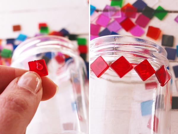 Windlicht Glas Mosaik Selber Machen  Wohndesign