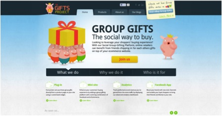 The gift Project homepage