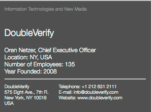 DoubleVerify WEF card