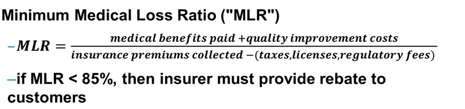 the Affordable Care Act mandates vendor selection criteria to include Minimum Medical Loss Ratio (MLR)