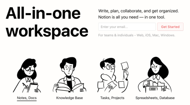 Notion the all in one workplace scratchpad