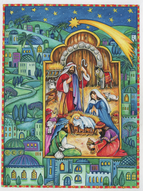 Born In Bethlehem Advent Calendar Large Nativity