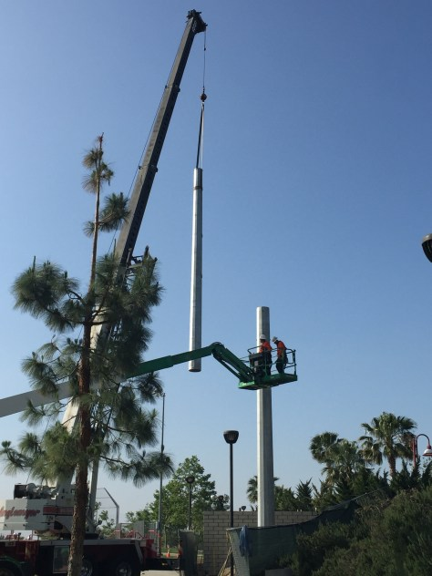 Ball Park Light Pole Installation - Rancho Cucamonga 1