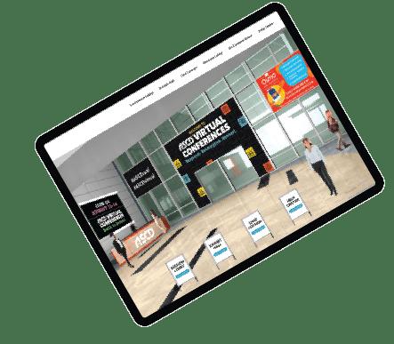 Unique, Powerful {Hybrid and} <br>Virtual Event Platform