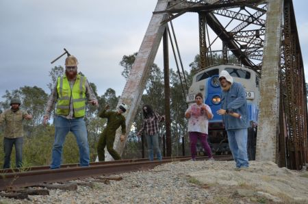 Scenes from a Zombie Hunter Train. Photo by Tresa Wilkinson for Fillmore & Western Railway Co.