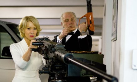 Helen Mirren's latest accessory? A machine gun
