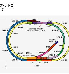 rokuhan layout plan x complete track set 27 9 x 17 7  [ 1192 x 851 Pixel ]