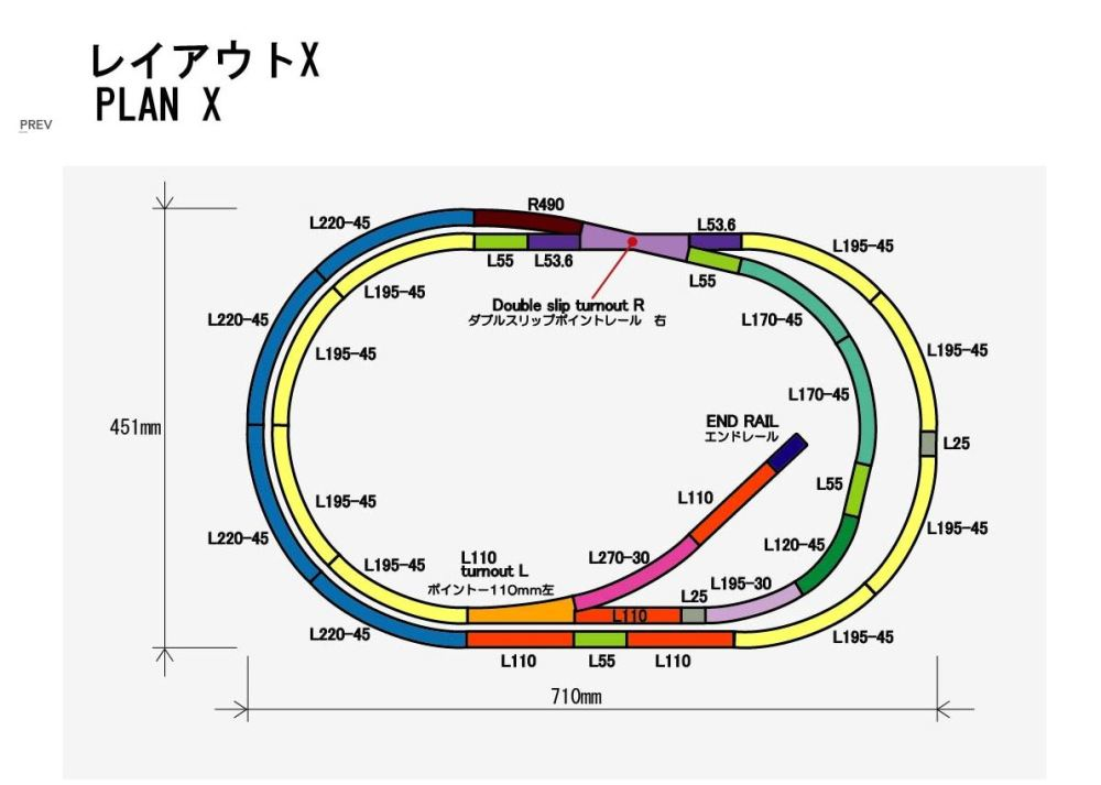 medium resolution of rokuhan layout plan x complete track set 27 9 x 17 7