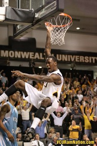 Larry Sanders became a fan favorite at VCU with his highlight reel blocks and dunks.