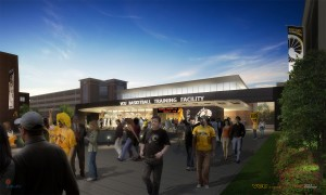 Front facade of VCU's planned practice facility.