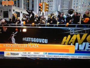 "VCU ""Peppas"" pep band make an appearance on NBC's ""Today Show"". Ram fans took over this year's A-10 tournament, creating new traditions in an unfamiliar conference tournament setting."