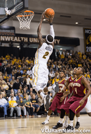 Briante Weber posted a game-high 16 points in tonight's win over Winthrop.