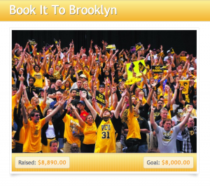 VCU fans, including two former legends, Eric Maynor and Phil Stinnie, helped raise money to send VCU students to this year's A-10 tournament in Brooklyn.