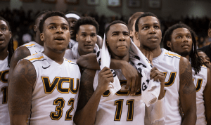 VCU seniors, Rob Brandenberg and Juvonte Reddic, celebrated all season by becoming the first VCU team since the 70s to go undefeated at home.