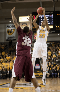 Freshman Terry Larrier posted a career-high 21 points as VCU cruised past the UMES Hawks tonight.
