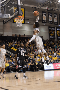 VCU freshman Justin Tillman finished with a 14-point, 10-rebound double-double in just 17 minutes off the bench.