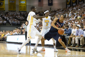 VCU forced 16 UVA turnovers but struggled in every other aspect of the game in tonight's 17-point loss.