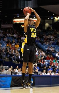 """VCU's Bradford Burgess earned the nickname """"Big Shot"""" Brad during his time at VCU but hit no bigger shot than the game winner against FSU to send VCU to their first-ever Elite 8 appearance in 2011."""