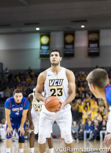 Ahmed Hamdy Mohamed leads VCU with a team-high 59.5% field goal percentage in his first season with the Rams.