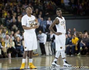 VCU backcourt mates Melvin Johnson and JeQuan Lewis look to stay hot in a tough road game at Saint Joseph's.