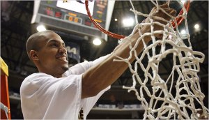 VCU cut down both the regular season and conference tournament nets in 2007, the last season in which VCU won both conference titles, doing so however as a Colonial Athletic Association member.