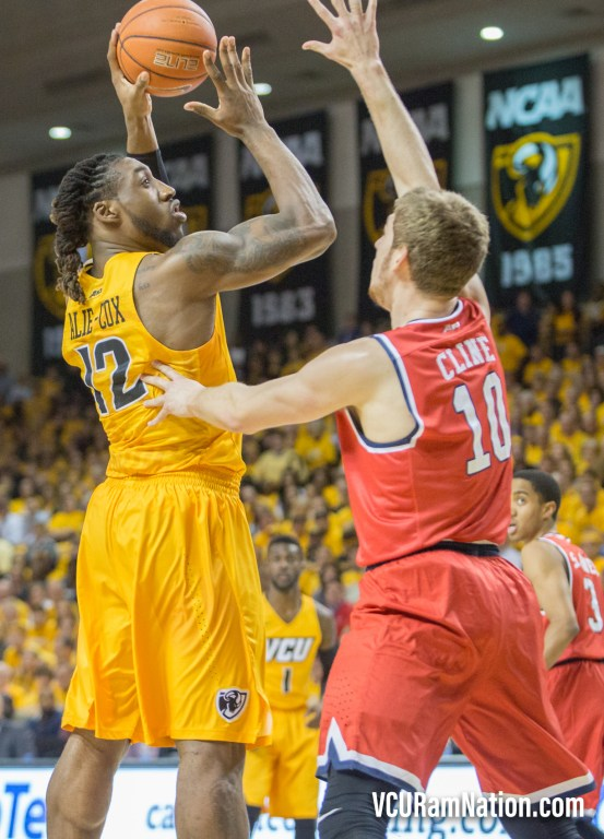 Mo Alie-Cox versus TJ Cline will pit two of the A-10's best bigs against each other twice this season, first on February 11 at the Siegel Center.