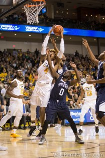 Justin Tillman finished with 15 points and a team-high nine rebounds in VCU's exhibition loss versus Queens.