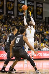 JeQuan Lewis leads VCU with 13.3 points per game this season and is the only Ram averaging double-digits thus far.