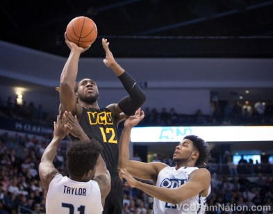 VCU's Mo Alie-Cox will have his hands full today with the MTSU twin towers of JaCorey Williams and Reggie Upshaw.