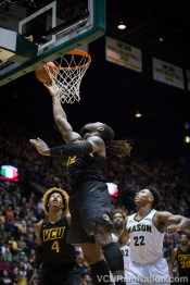 Mo Alie-Cox was one of three VCU starters with double-digit two-point attempts in last night's win at Mason.