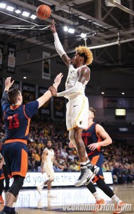 Justin Tillman is averaging a career-high 17.5 points and his shooting a team-best 50% from three this season.