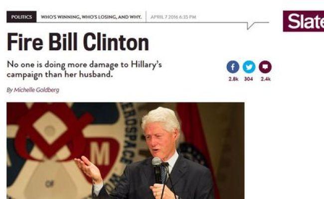 Bill Clinton Denounced In Slate For Denouncing Murderous