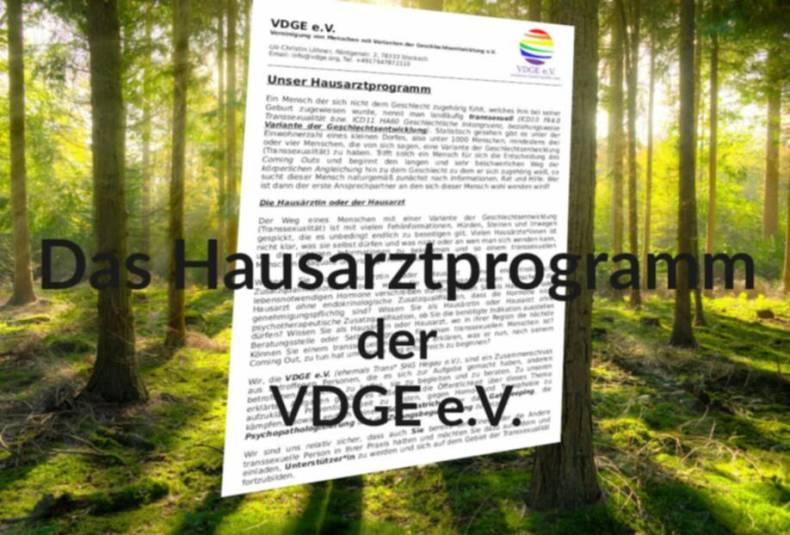 Das Hausarztprogramm der VDGE e.V.