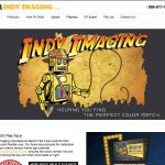 Indy Jones robot design on the website