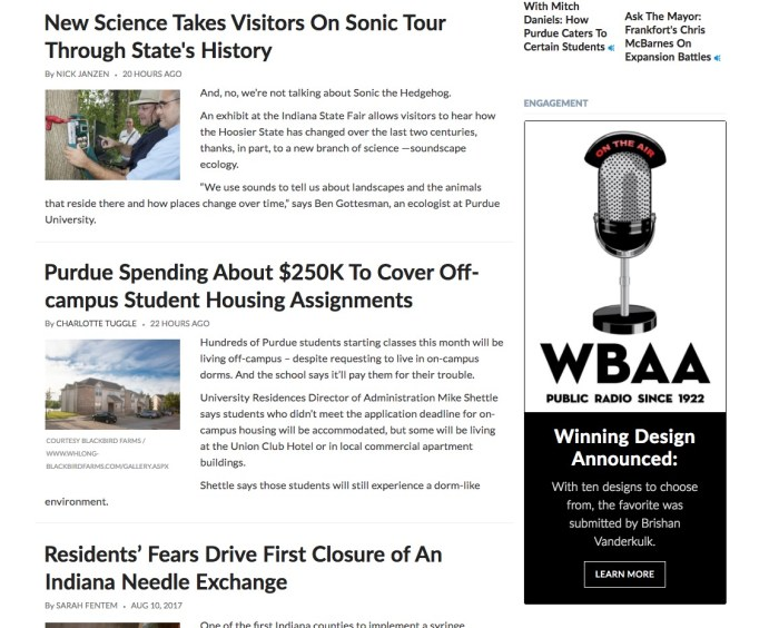 WBAA.org screenshot featuring my microphone design