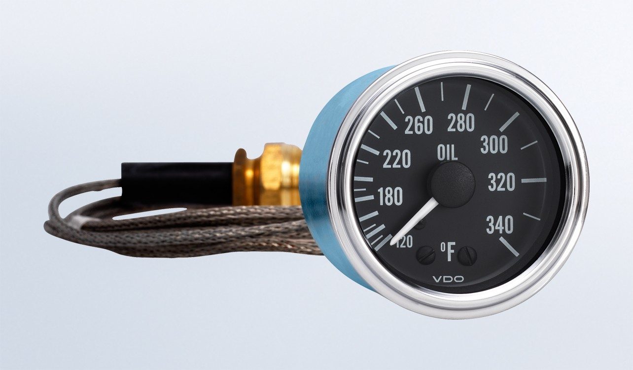 hight resolution of series 1 340 f oil temperature gauge with 144 capillary vdo instruments and