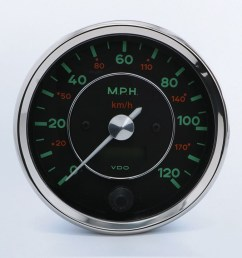 356 120mph 100mm speedometer vdo instruments and accessories [ 1250 x 729 Pixel ]