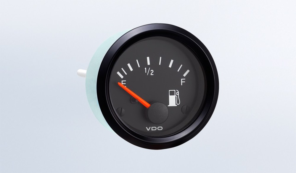 medium resolution of cockpit international fuel gauge use with vdo tube type sender 24v 250 spade connection instruments displays and clusters vdo instruments and